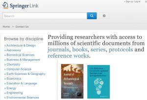 SpringerLink http://link.springer.com/ is the flagship channel for Springer Nature customers