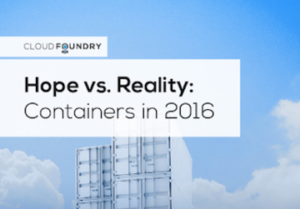 Hope Versus Reality: Containers In 2016
