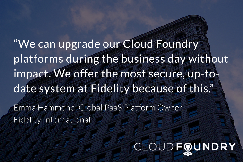 Fidelity Cloud Foundry case study