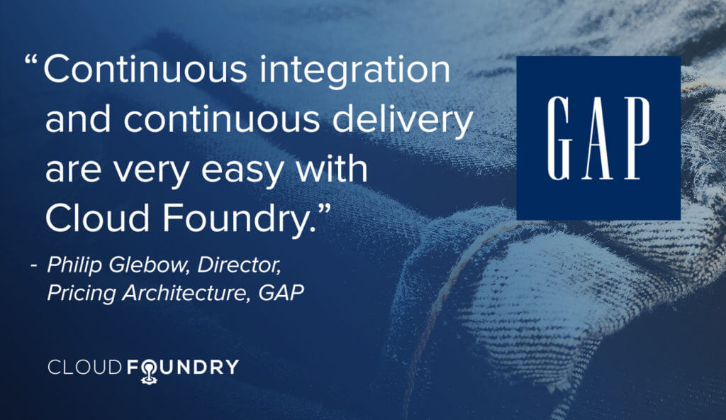 Gap cloud foundry case study