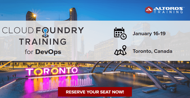 Altoros Brings Cloud Foundry Training to Toronto and Seattle - Cloud Foundry