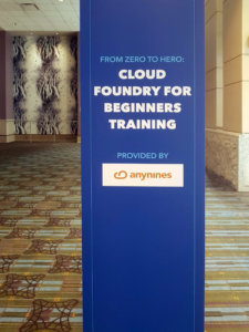 """anynines on """"From Zero to Hero Training"""" at Cloud Foundry Summit"""