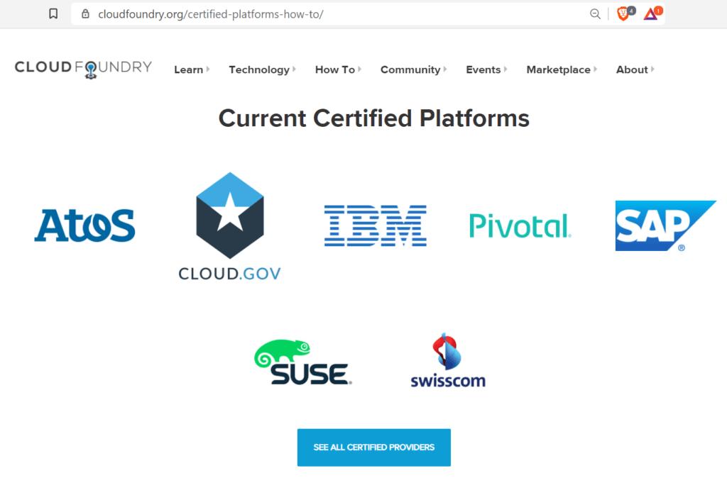 Certified Providers list