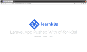 Deploy A Laravel Application To Kubernetes Using Cloud Foundry
